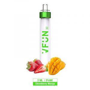 Vape Descartável VFun com LED colorido - Strawberry Mango